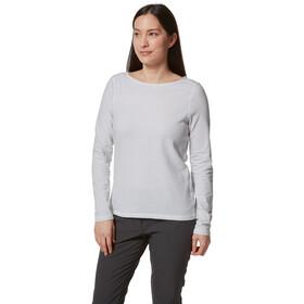 Craghoppers NosiLife Erin Long Sleeved Top Dame soft grey marl stripe
